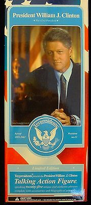 President Bill Clinton 2003 Talking Action Figure Collectible Doll  - MIB