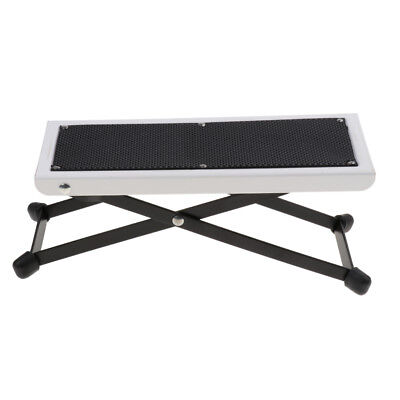 Durable Metal Guitar Foot Rest Stand Folding Guitar Stool Pedal White