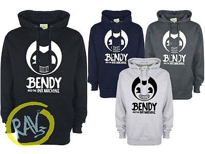 Bendy and The Ink Machine Animation Horror Game Inspired Kids Adult Hoodie gift>