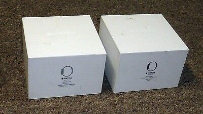2 Original EMPTY BOXES from Series 2 Stainless Steel Apple Watch 38mm 42mm