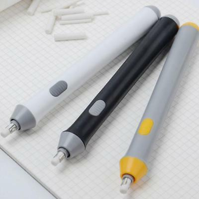3Colors Handy Electric Battery Operated Pencil Eraser Rubber Out Pen SuppliesD