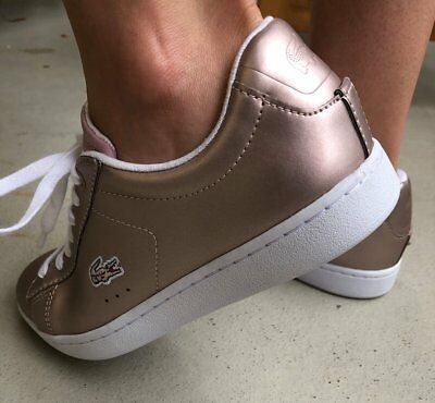 f1e327101529ae Lacoste Carnaby EVO 117 3SPW LT PNK LEATHER PINK Sneaker Schuhe B-WARE