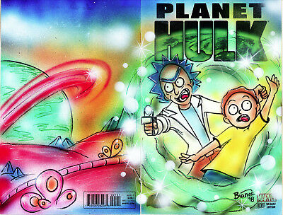 RICK AND MORTY 2pg Comic Cover Painting by Bianca Thompson