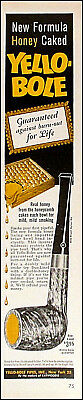 1962 Yellow-Bole Pipes Vintage Pipe Tobacco Lounge PRINT AD