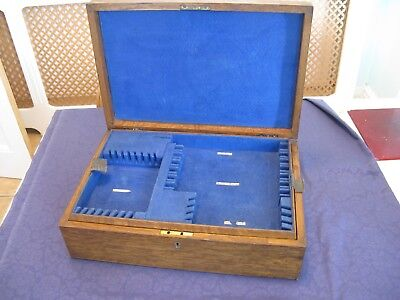 Antique Dark Oak Cutlery Canteen. Removable Tray. 6 Settings