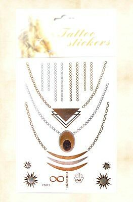 US SELLER, WHOLESALE necklace jewelry inspired flash metallic ...