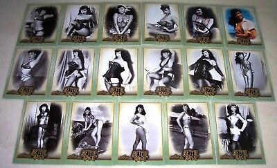 Bettie Betty Page 2014 Leaf Benchwarmer 17 Card Lot Nice