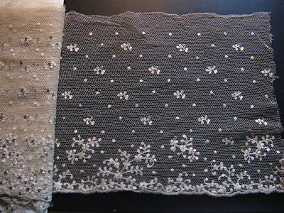 Beautiful antique French lace! High approx 23 cm, length 0.83 meters .. ca. 1925