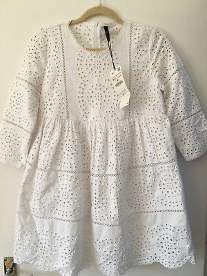 ec40b19c ZARA WHITE EMBROIDERED Jumpsuit Dress Size M Brand New & Sold Out