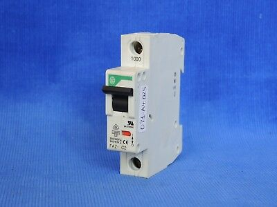 Lot of 2 Klockner Moeller FAZ-C2 2 Amp Single pole Circuit Breakers 230//400V