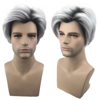 Handsome Short Sliver Male Fancy Costume Party Fashion Men Cosplay Wig Beauty!