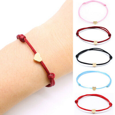 2PCS Bracelet Red Rope Bangle Lucky Bracelets  Women Cord String Heart Jewelry