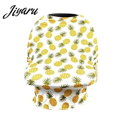 Baby Car Seat Canopy Stretchy Cart Cover Breastfeeding Privacy Printed Scarf