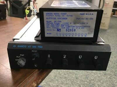 Narco Transponder AT 150 w Ameri-King Encoder AK-350