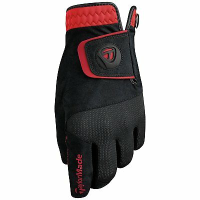 New TaylorMade Rain Control Golf Gloves COLOR: Black/Red SIZE: Large (1) Pair
