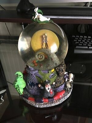 rare nightmare before christmas snow globe with all parts