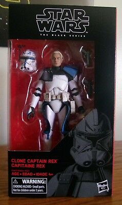 Star Wars The Black Series #59 Clone Captain Rex 6-inch Figure (Mint In Box)