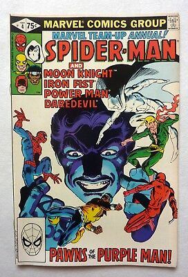 Marvel Team Up Annual 4 Spider-Man Iron Fist Daredevil  + FN+/VFN Condition 1981