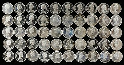1965 Canada Dimes Ten Cents 10C Gem Proof Like Full Roll 50 Coins (Ca-28)