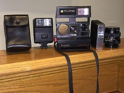Polaroid Land Camera / Zesnar Lens / Canon Speedlite Flash / Bauer Autoblitz