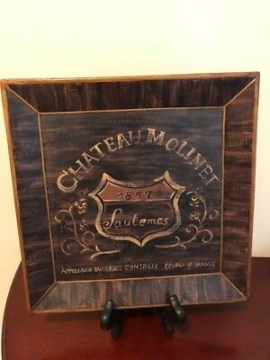 Chateau Molinet Plaque, Stand Included! Brand New!