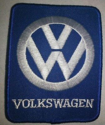 "Volkswagen Iron On SERVICE Patch  ""free ship"" 4"" x 3.5"""