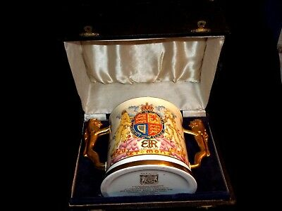 1937 Paragon Coronation Hrh King Edward Viii #127/1000 Large Loving Cup With Box