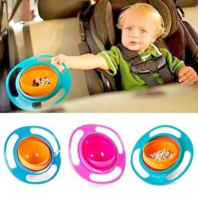 Anti Spill Bowl Gyro 360 Degree Rotating For Kids & Babies Gravity Food Solution