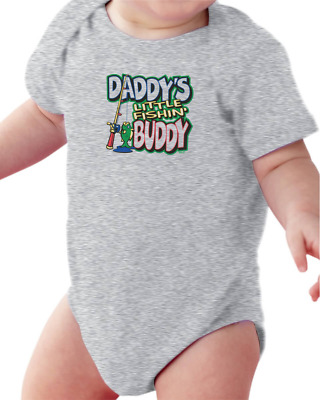 Infant Creeper Bodysuit One Piece T-shirt Daddy's Little Fishin' Buddy k-425