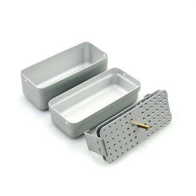 72hole Dental Bur Box Holder for High/low Speed Bur Endo File box ruler silver