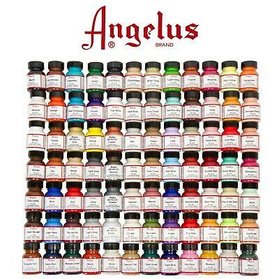 Angelus  Leather Paints 29.5ml , Huge Color Range - FREE POSTAGE - AU SELLER !!!