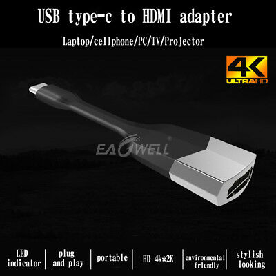 USB 3.1 Type C USB-C To HDMI Adapter Cable For Samsung S8 S9 Plus Note 8 Macbook
