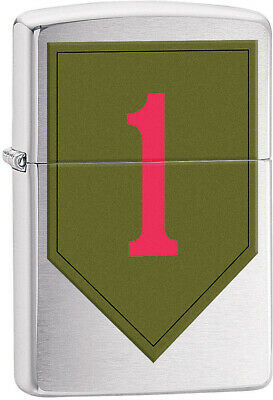 Zippo Lighter US Army 1st Infantry United States Windproof USA New 11594