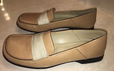 0d6794b376e Prada Beige Tan Leather Women s Loafer Moccasin Size 38. Made In Italy