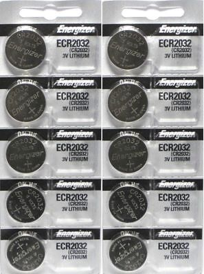 Energizer CR2032 3V Lithium Coin Battery 2032 New Fresh 10 Pcs USA Seller
