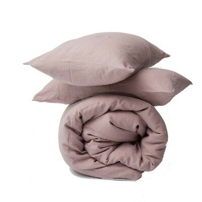 Beige Single/Double/Queen Size Fitted Sheet With Pillowcases Bed Sheet Au Seller