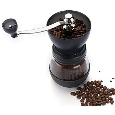 Manual Coffee Grinder With Conical Ceramic Burr - Because Hand Ground Beans Jar,