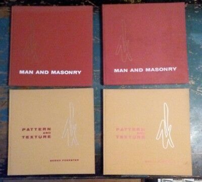 2 RARE book Sets - Pattern and Texture - Man and Masonry - Bernd Foerster 1961