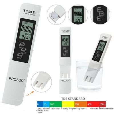 Digital LCD EC TDS Meter Water Quality tester 0-9990 PPM Filter Purity Pen
