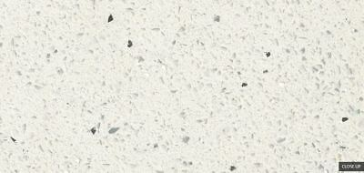 "Sparkling White 108""x42"" Quartz Prefab Countertop for Island"