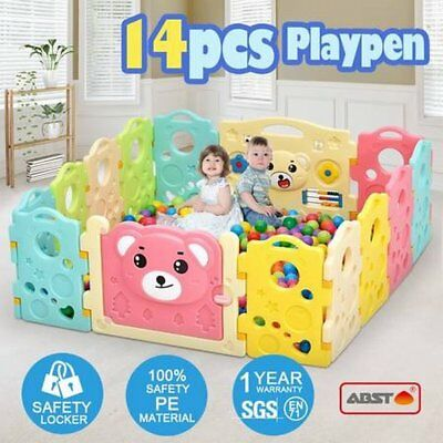 NEW Colourful 14 Sided Panel Indoor/Outdoor Interactive Baby Playpen Play Game