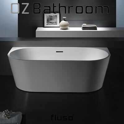Back to wall Thin edge Bathroom Acrylic Free Standing Bath+Overflow 1695x750@MEL
