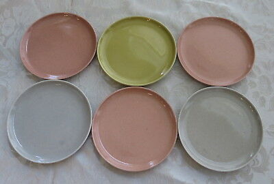 6 Russel Wright Steubenville American Modern Bread & Butter Plates, Excellent