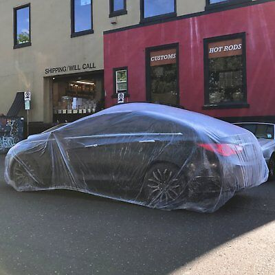 Disposable Plastic Car Cover with Elastic Band- Dust Cover- Rain Car Cover Chevy