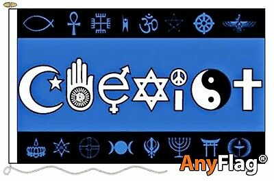 Coexist Custom Anyflag Made To Order Various Flag Sizes