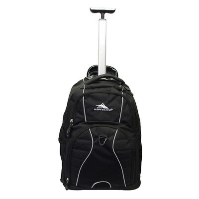 "High Sierra - Freewheel 17"" Laptop Wheeled Carry-On Backpack - Black"