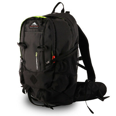 High Sierra - Tokopah 40L Backpack - Raven/Black/Zest