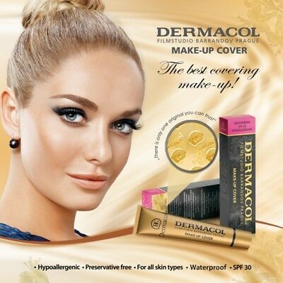 DERMACOL High Covering Foundation Legendary Film Studio Face Cover Make Up 30g ~