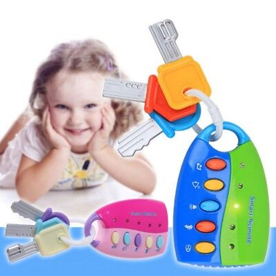 Baby Toy Musical Car Key Toy Smart Remote Car Voices Pretend Play Education