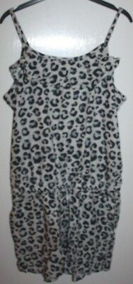 H & M Girls Grey Leopard Print Playsuit Age 13 - 14 Years